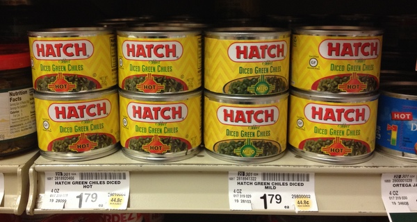 Hatch Diced Green Chiles at the Local Safeway!