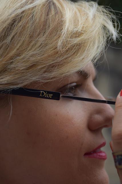 occhiali da sole con lenti a specchio dior