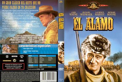 Carátula - Película El Álamo (1960) The Alamo, descargar y ver online