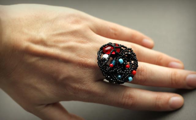 красивые крупные кольца очень большое крупное кольцо черного цвета