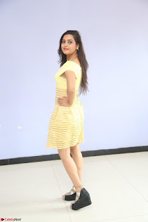 Shipra gaur in V Neck short Yellow Dress ~  082.JPG
