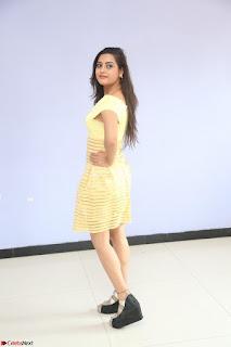 Shipra gaur in V Neck short Yellow Dress ~  082.JPG