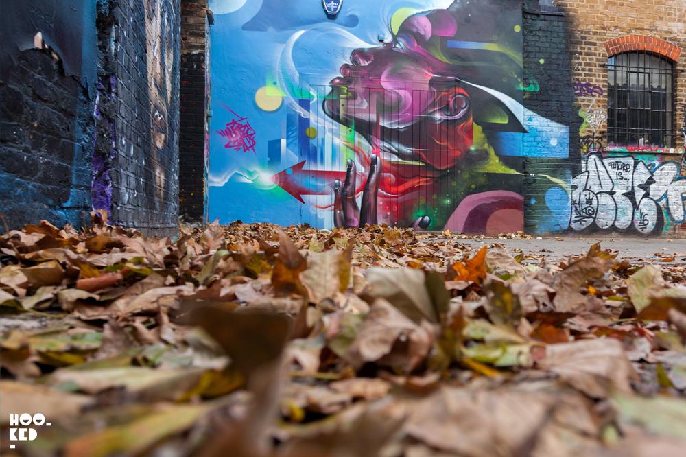 Vibrant London Street Art Mural by Artist Mr Cenz