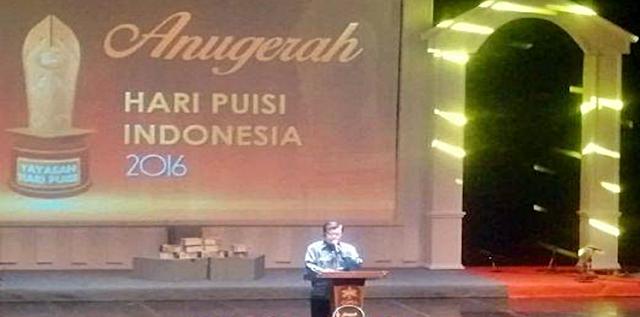 Puisi karya Wakil Presiden Jusuf Kall yang menurutnya dibuat pertama dan terakhir kalinya