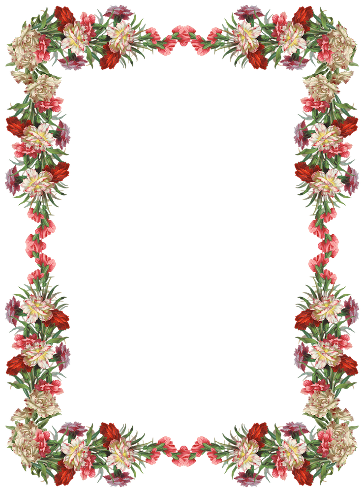Free Digital Vintage Flower Frame And Border