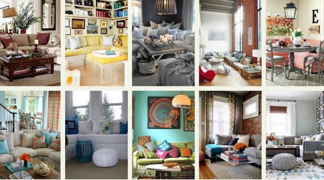 70+ Καθιστικά με γωνιακούς καναπέδες
