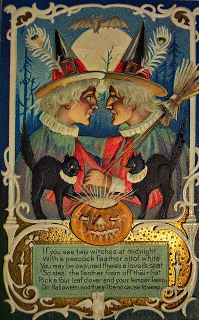 Vintage Halloween Witch Postcards C 1900s Vintage