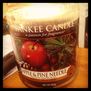 apple and pine needle yankee candle