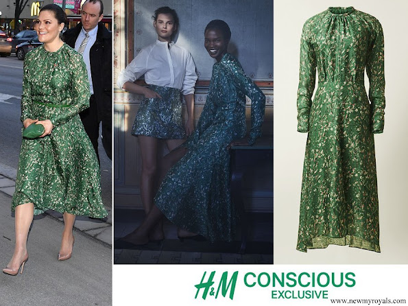 Crown Princess Victoria wore H&M dress from H&M Conscious Exclusive Collection