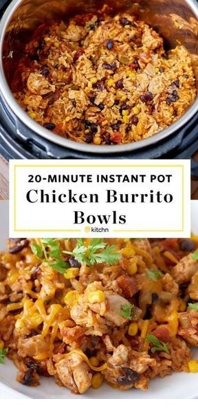 Instant Pot Weeknight Chicken and Rice Burrito Bowls