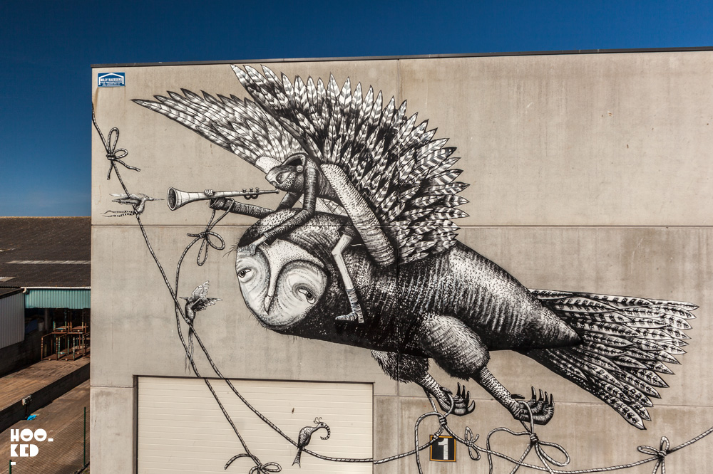 London Street Artist Phlegm's Mural in Ostend, Belgium. Photo ©Hookedblog