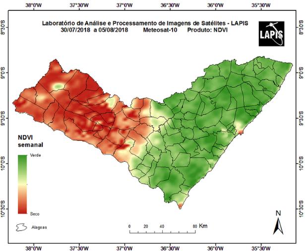 Monitoramento mostra que o Sertão de Alagoas já enfrenta seca grave
