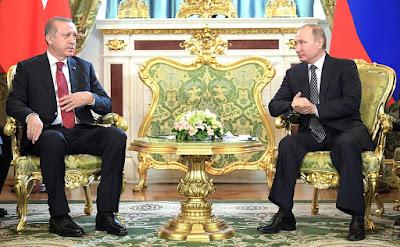 Vladimir Putin, President of Turkey Recep Erdogan.