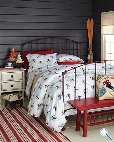 dragonfly designs embroidered skier sheets. Black Bedroom Furniture Sets. Home Design Ideas
