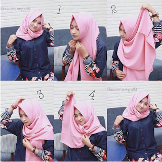 tutorial hijab pashmina simple