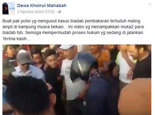 Perhatikan! Ini Tampang Orang-orang Yang Bakar Pria Dituduh Nyolong Ampli di Bekasi