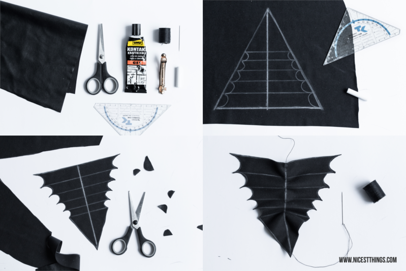 DIY Bat Bow Halloween DIY Fledermaus Schleife