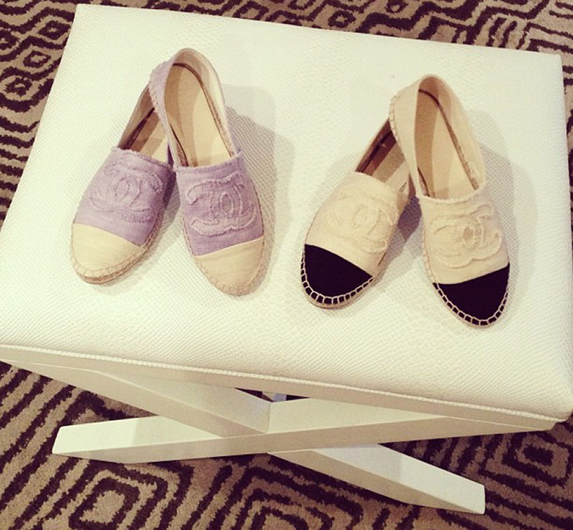 chanel espadrille shoes