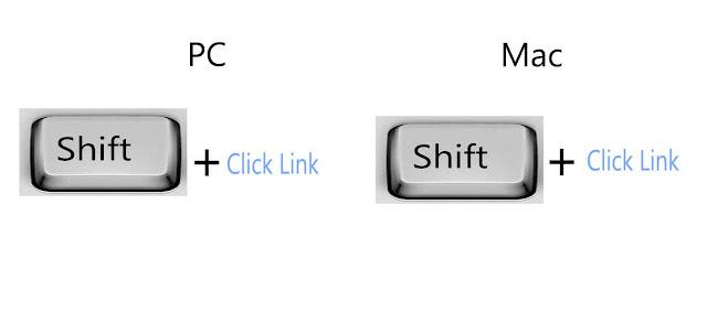 Open hyperlinked text in a new window