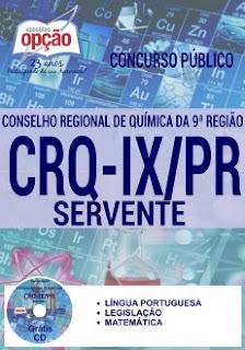 Apostila CRQ-IX PR 2016 Servente