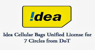 DoT has approved Idea Cellular's request to acquire unified telecom license for seven different circles in India.