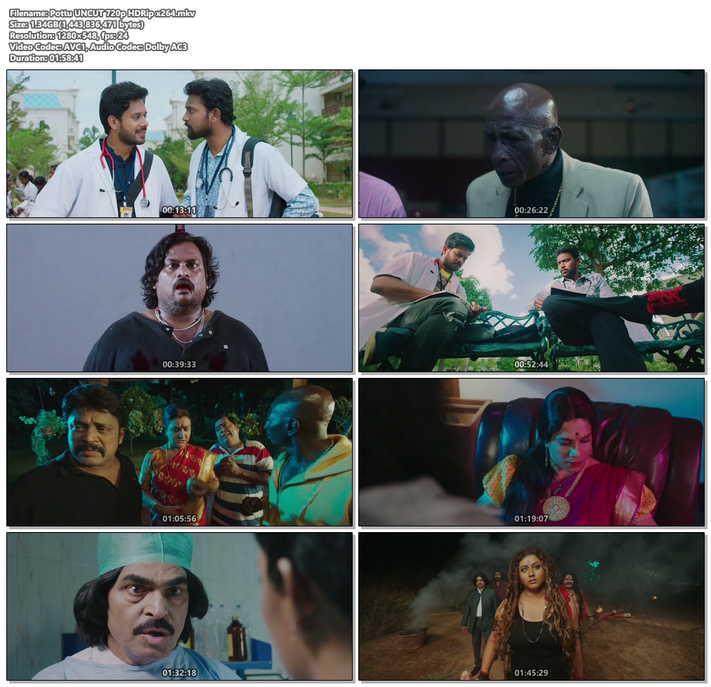 Pottu 2019 UNCUT 720p HDRip x264 | 480p 300MB | 100MB HEVC Screenshot