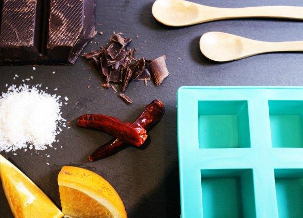 Helado de chocolate picante casero