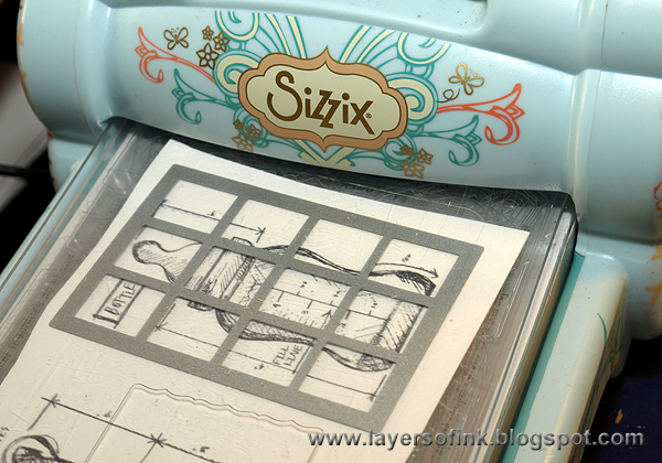 Layers of ink baby blueprint tutorial die cut the images with the postage dots dies use the rectangular die for the taller images and the square one for the rest these dies work great together malvernweather Choice Image