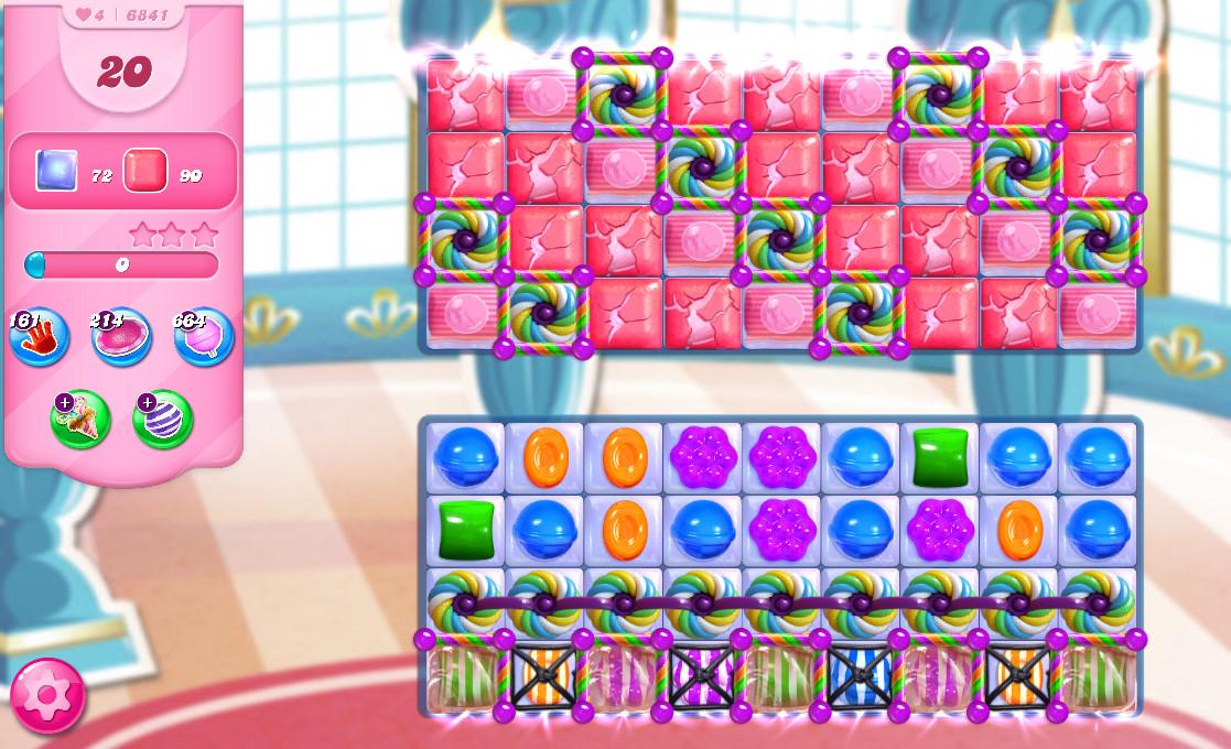 Candy Crush Saga level 6841