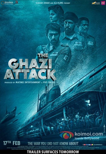 The Ghazi Attack 2017 Khatrimaza - Hindi 480p BRRip 350mb