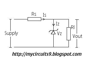 circuit zener diode regulator