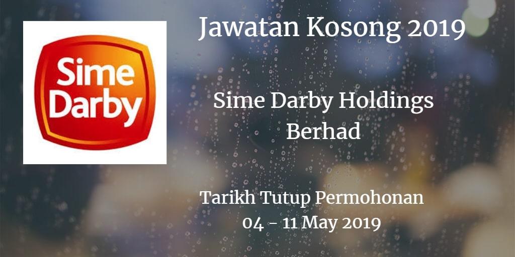 Jawatan Kosong Sime Darby Holdings Berhad 04 - 11 May 2019