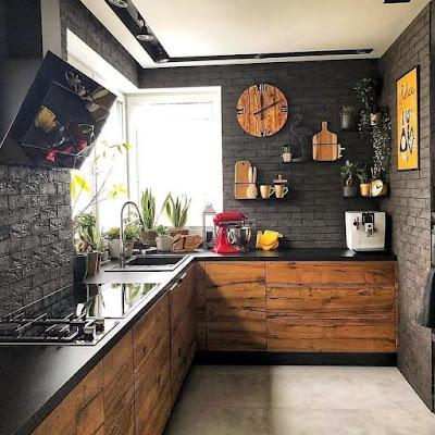 dapur batu alam minimalis
