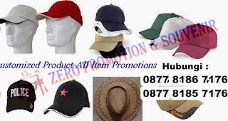 Konveksi Topi promosi murah dan cepat, Produsen Topi Promosi murah dan cepat dengan bordir atau sablon