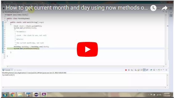 JAVA EE: How to get current month and day using now methods