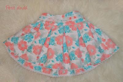 Blusa y falda estampada petitdudu