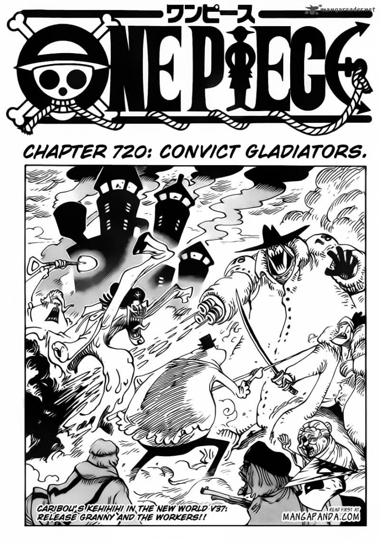 One Piece Ch 720: The Gladiator Prisoners