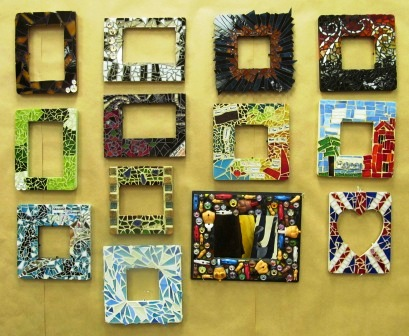 mosaic frames student work - Mosaic Picture Frames