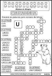 Cruzadinha com a letra U