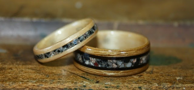 Rings incorporating Oak Wood
