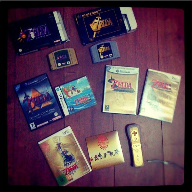 collection jeux zelda