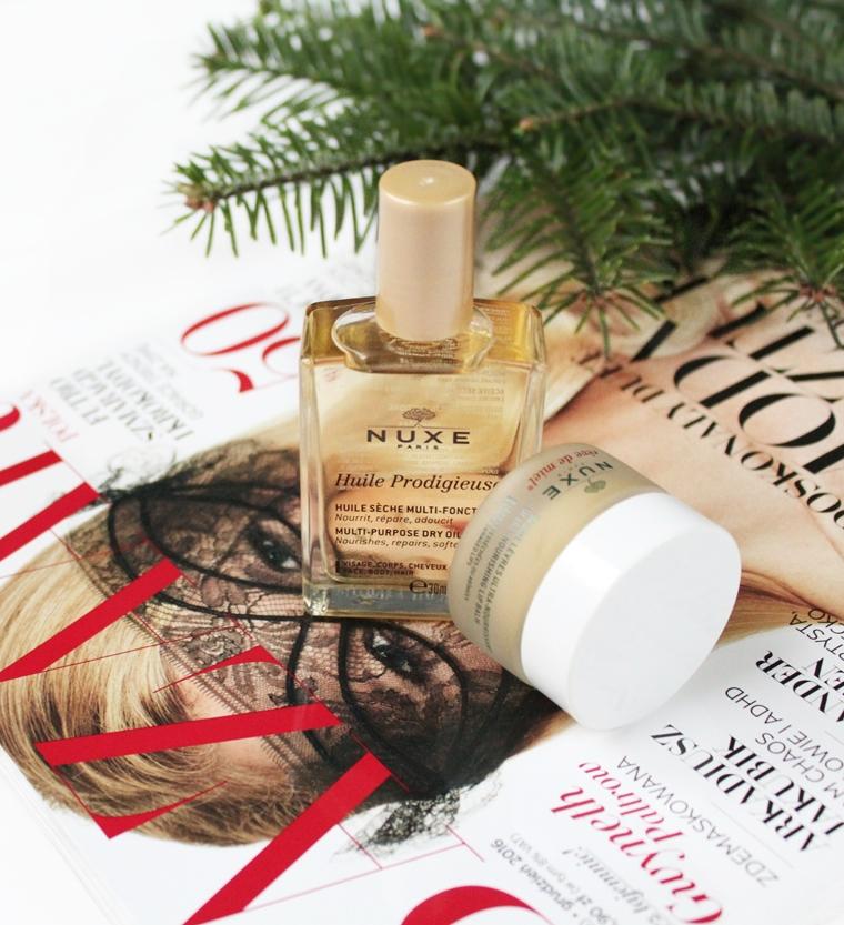 Kultowe kosmetyki NUXE, które warto przetestować: olejek Huile Prodigieuse oraz balsam do ust Reve de Miel