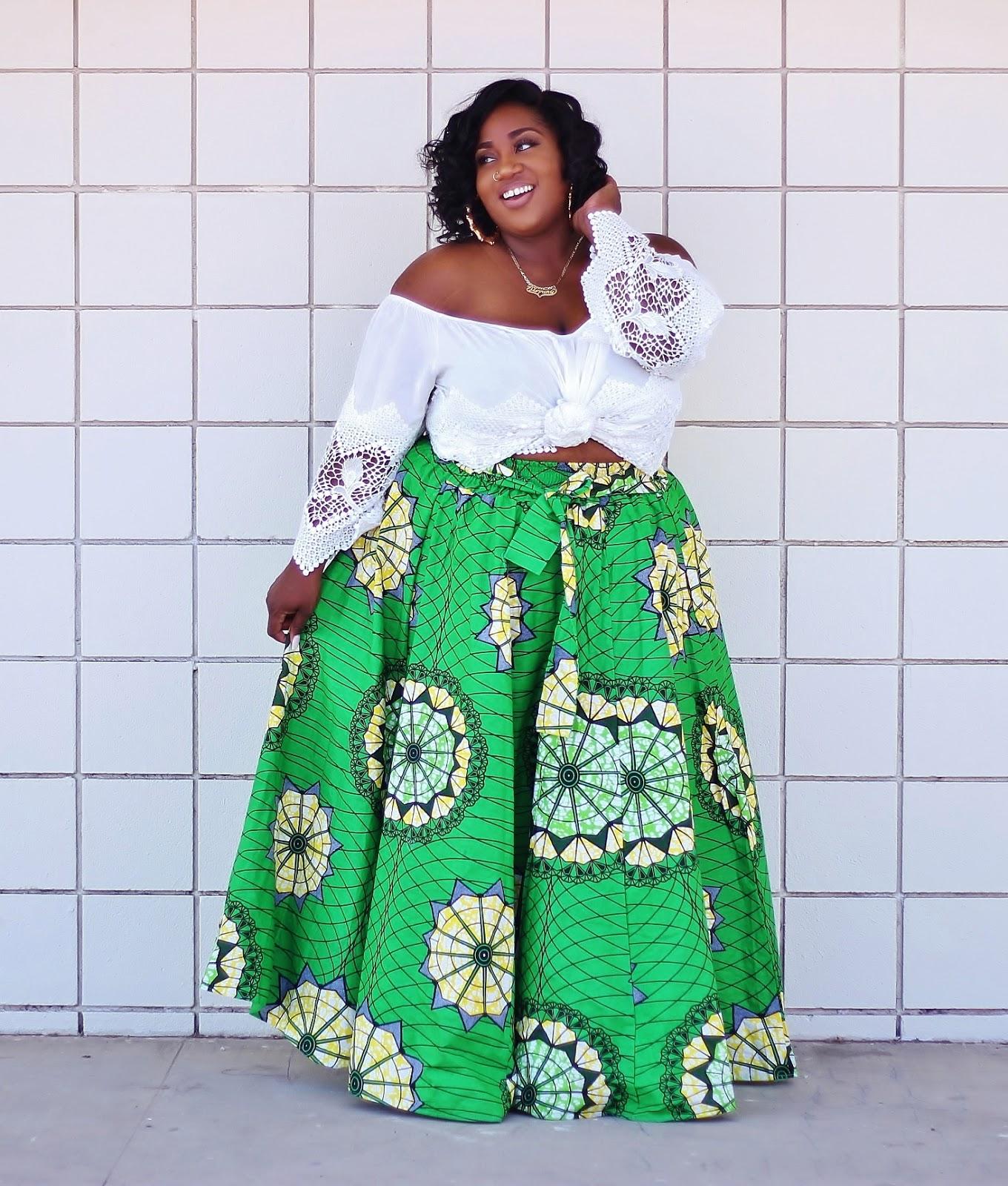 Ankara African Print Skirt