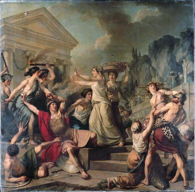 Γυναίκες στην αρχαία Σπάρτη. Jean-Jacques-François Le Barbier – Courage des femmes de Sparte.
