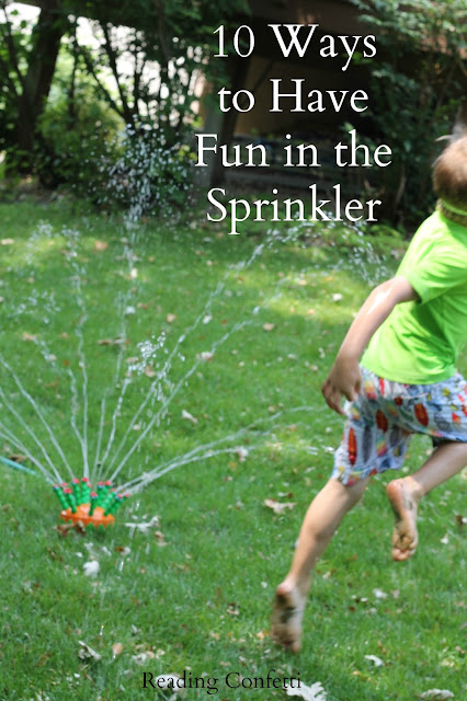 summer fun activities, sprinkler activities