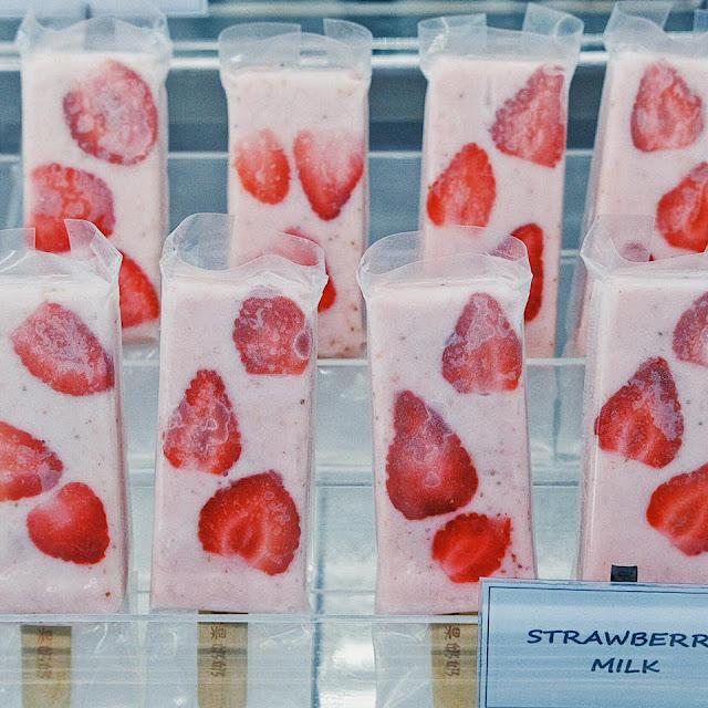 Strawberry Milk Popsicles