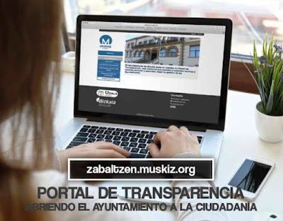 El Portal de Transparencia del Ayuntamiento de Muskiz se encuentra ya accesible a la ciudadanía