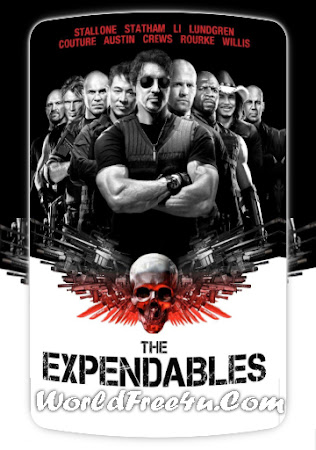 Poster Of Free Download The Expendables 2010 300MB Full Movie Hindi Dubbed 720P Bluray HD HEVC Small Size Pc Movie Only At worldfree4u.com