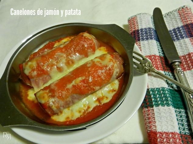 """""""Canelones de jamón y patata"""""""