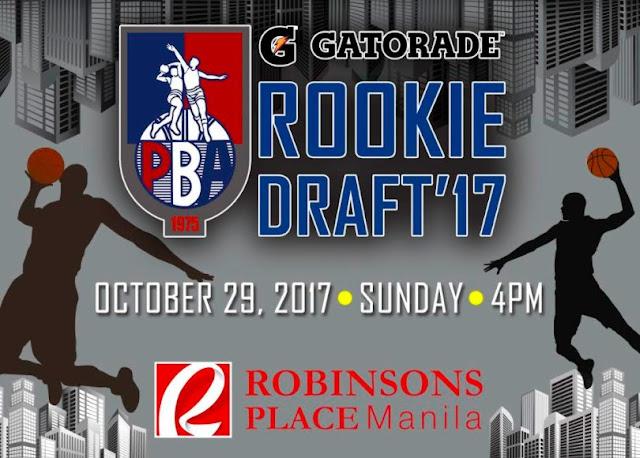 List of Drafted Rookies per team 2017 PBA Rookie Draft